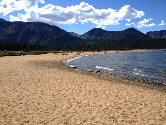 There Are Few Places Where Dogs Can Frolic In Lake Tahoe When One Of Them Hens To Be A Spectacular Beach You Bet It Is Por