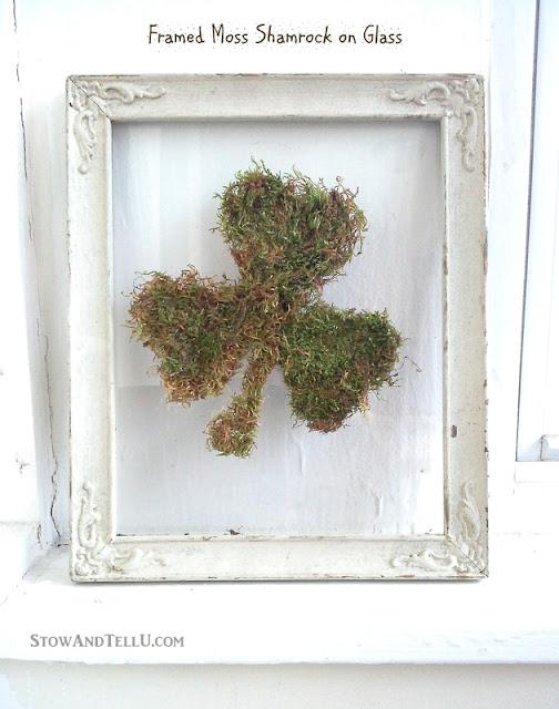 Framed Moss Shamrock