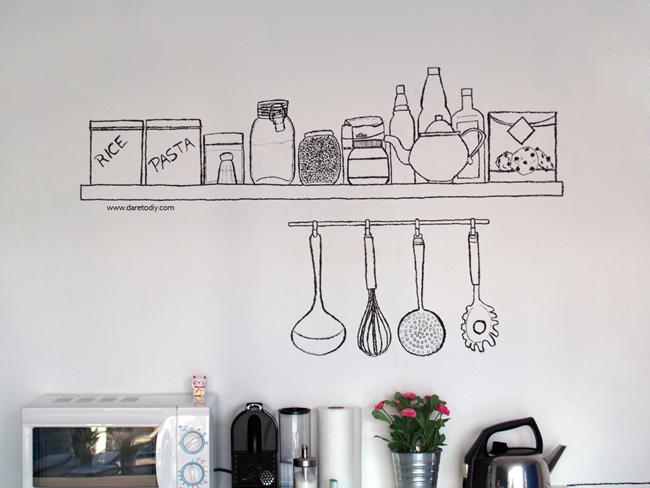 Dare to diy decoraci n diy transformando una oficina for Ideas para decorar pared cocina
