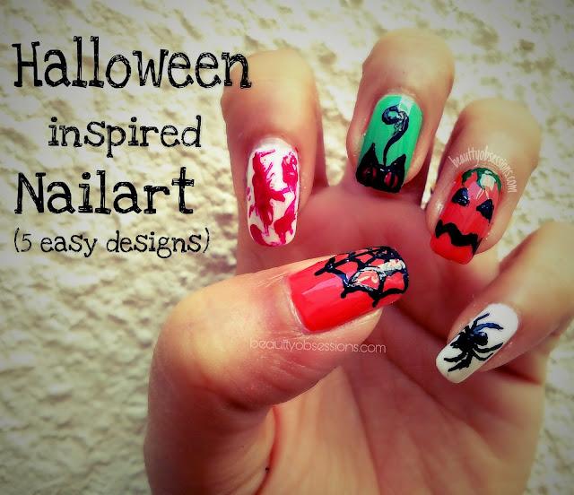 5 Easy Holloween Inspired Nailart Designs