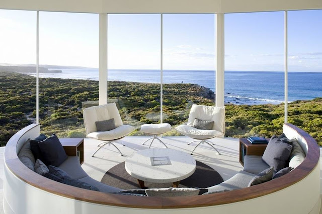 Living room overlooking the sea