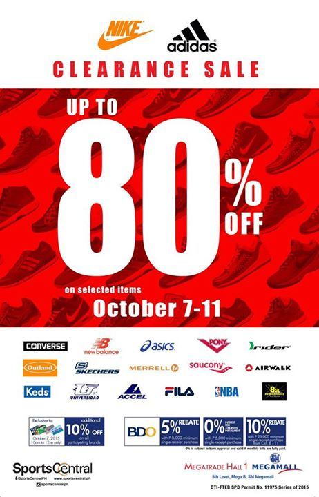 LOOK: Nike, Adidas and more... Clearance SALE at SM Megatrade Hall from October 7 to 11