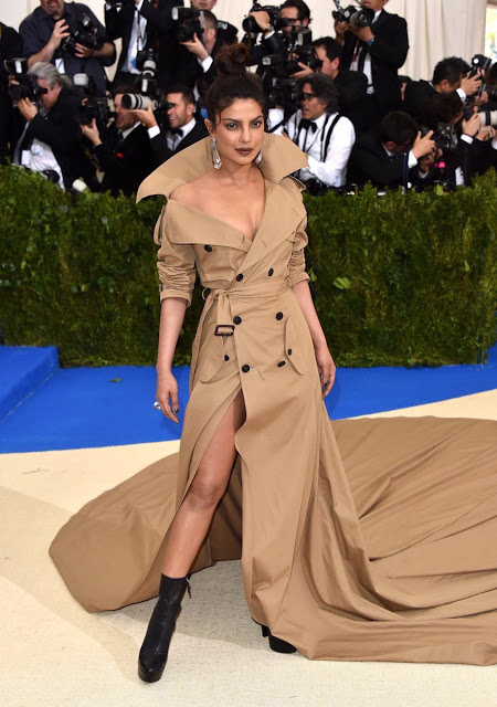 Priyanka Chopra at Met Gala 2017 Red Carpet Stills