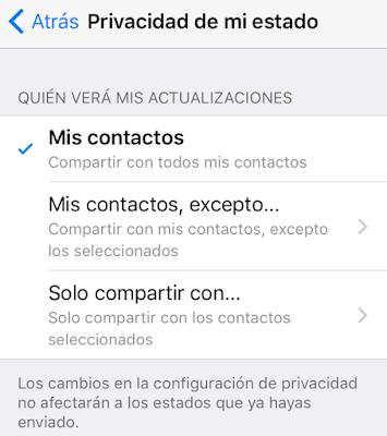 App, Configuración, estados, Mensajería, Privacidad, whatspp,