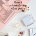 How I schedule my blog posts (+Free Printable Blog Planner)