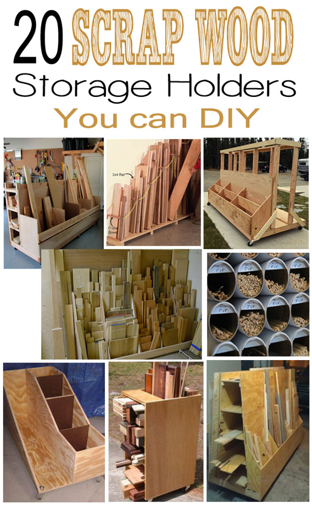 free Scrap wood holders plans and ideas
