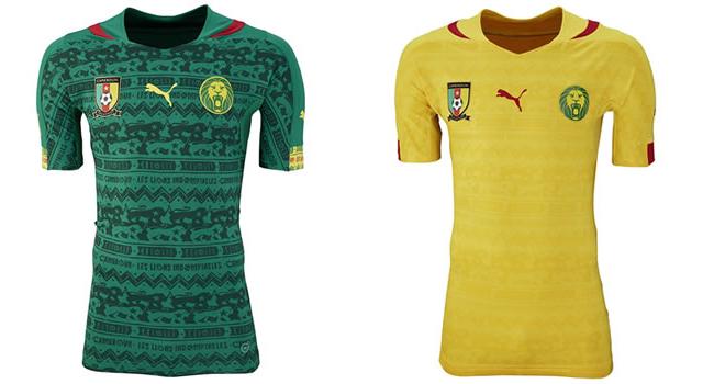 Camisetas selección Camerún Mundial 2014