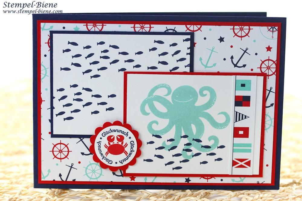 Stampin Up Sea Street, Stampin Up Ein Gruß für alle Fälle, Match the Sketch, Kindergeburtstagskarte Stampin Up, Stampin Up Katalog 2014-2015