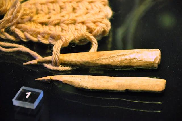 szydło wczesnośredniowieczne - wystawa Z poroża i kości, Giecz