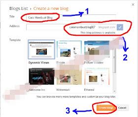 Cara Membuat Blog Gratis Di Blogspot (Blogger.com)