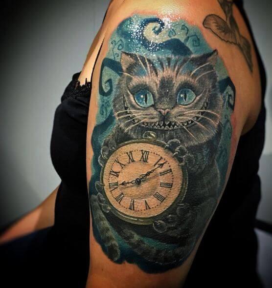 50 Alice In Wonderland Tattoos Ideas 2018