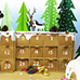 Winter Forrest Animals Scene Re use DIY Crafts Gift Advent Calender