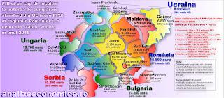 Cât de bogate sunt regiunile din afara granițelor României de astăzi