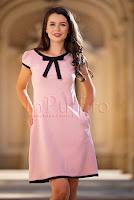 rochie-mbg-eleganta-roz-pudra-cu-funda-neagra