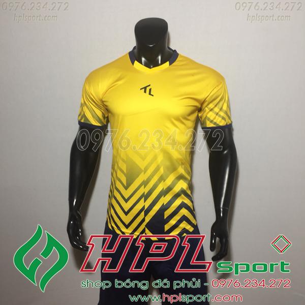 Áo bóng đá không logo TL HML Raki Màu Vàng
