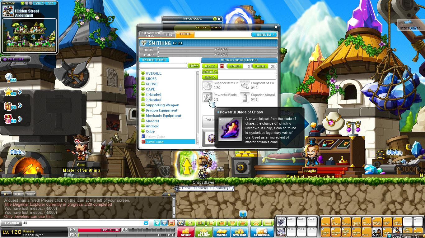 Maplestory meister ring crafting