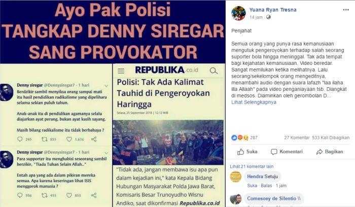 Ulama Jabar Minta Polisi Tangkap Deny Siregar