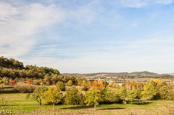 Vista del pantano de Ullibarrri Gamboa en Vitoria