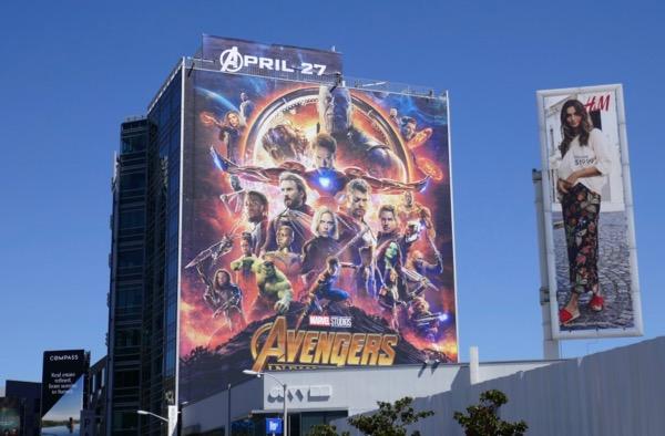 Avengers Infinity War billboard