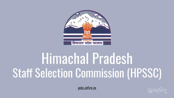 Job vacancies in Himachal Pradesh Staff Selection Commission HPSSC 2016 - Apply Now