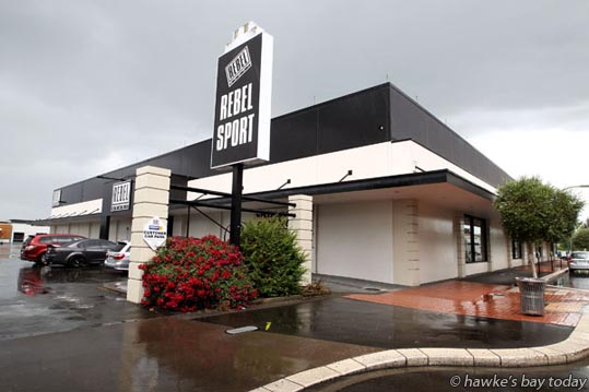 The old Rebel Sport site in Heretaunga St East, Hastings. The retail store has moved to The Park Mega Centre in Hastings. photograph