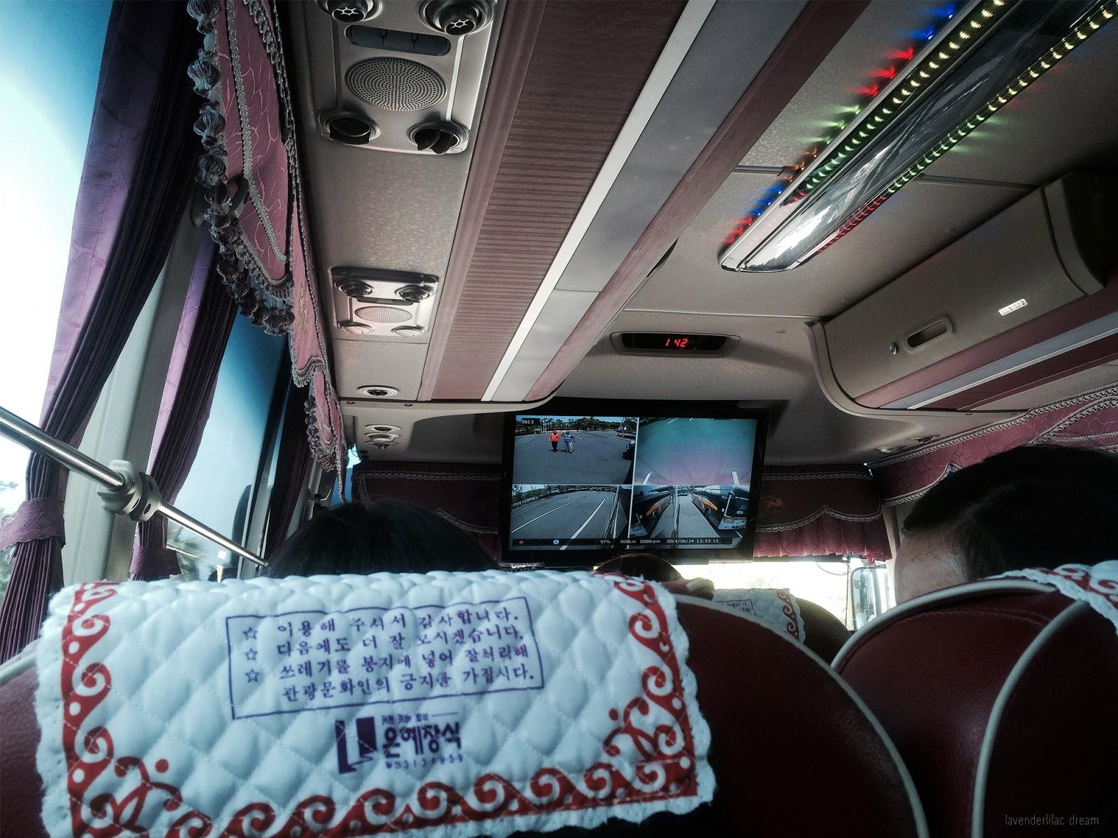 South Korea, Yonsei University, YISS 2014 Field Trip to Jeju Island, Korean tour bus