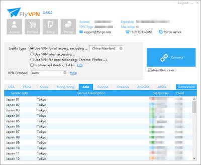 VPN serveur Tokyo Japon liste Windows