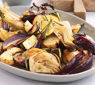 Roasted Vegetables with Mustard Mayonnaise Recipe