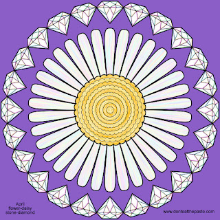 April Mandala- Daisy and Diamonds