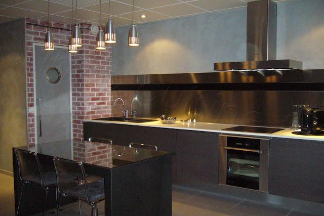 cuisine moderne en i. Black Bedroom Furniture Sets. Home Design Ideas