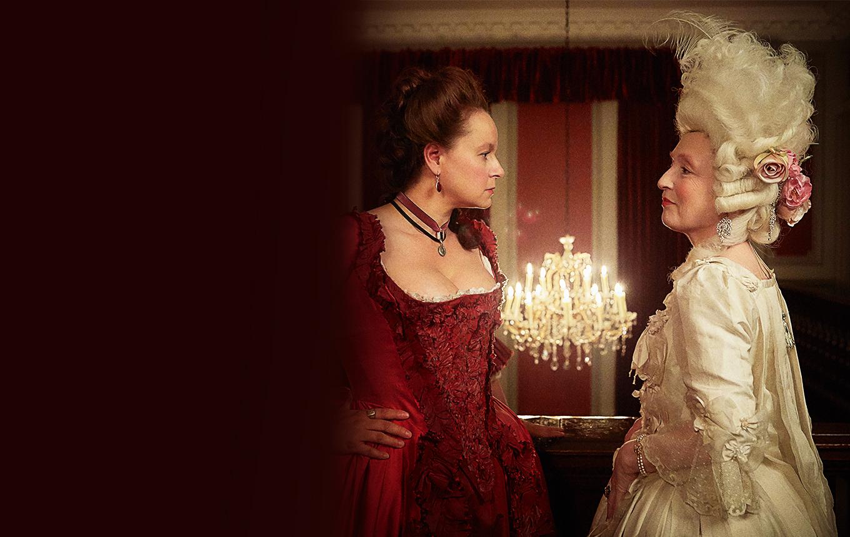 """Margaret Wells y Lydia Quigley en """"Harlots"""""""