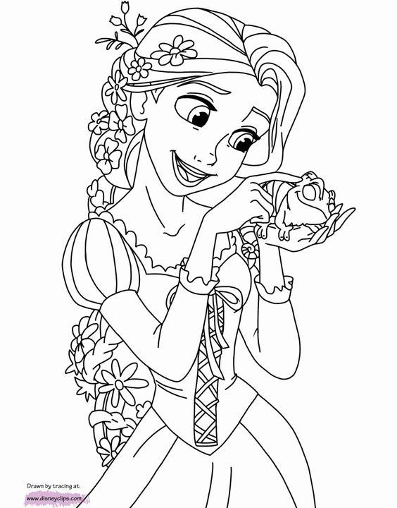 Tranh tô màu nàng công chúa tóc mây 06
