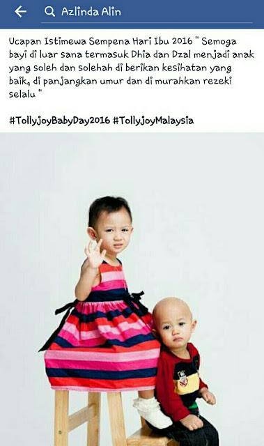 GIVEAWAY Hamper Tollyjoy Malaysia Bernilai RM100 Sempena Hari Bayi Tollyjoy (Baby Day) 2016