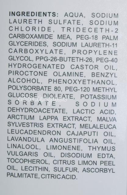 SL tratamiento higienizante de Vital active ingredientes