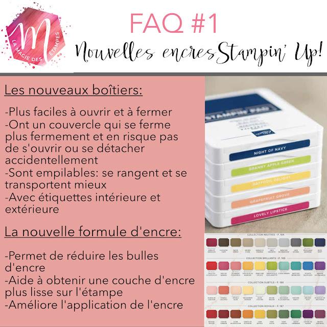 FAQ sur les nouvelles encres Stampin' Up! et les nouveaux tampons