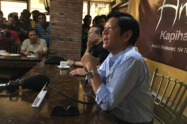 Marcos accuses outgoing President Benigno Aquino III to be the mastermind! Unbelievable!