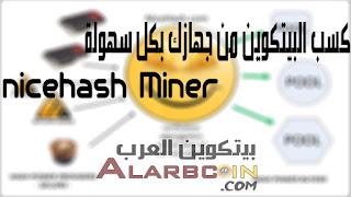 كسب البيتكوين من جهازك بكل سهولة nicehash Miner