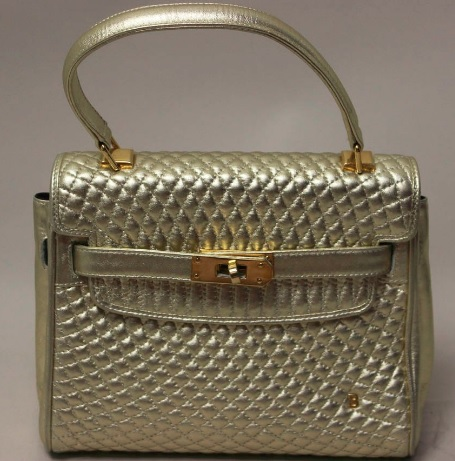 cef41d90ab31 Photo from  https   www.1stdibs.com fashion handbags -purses-bags top-handle-bags rare-vintage-bally-gold-leather-quilted-kelly- bag id-v 717822