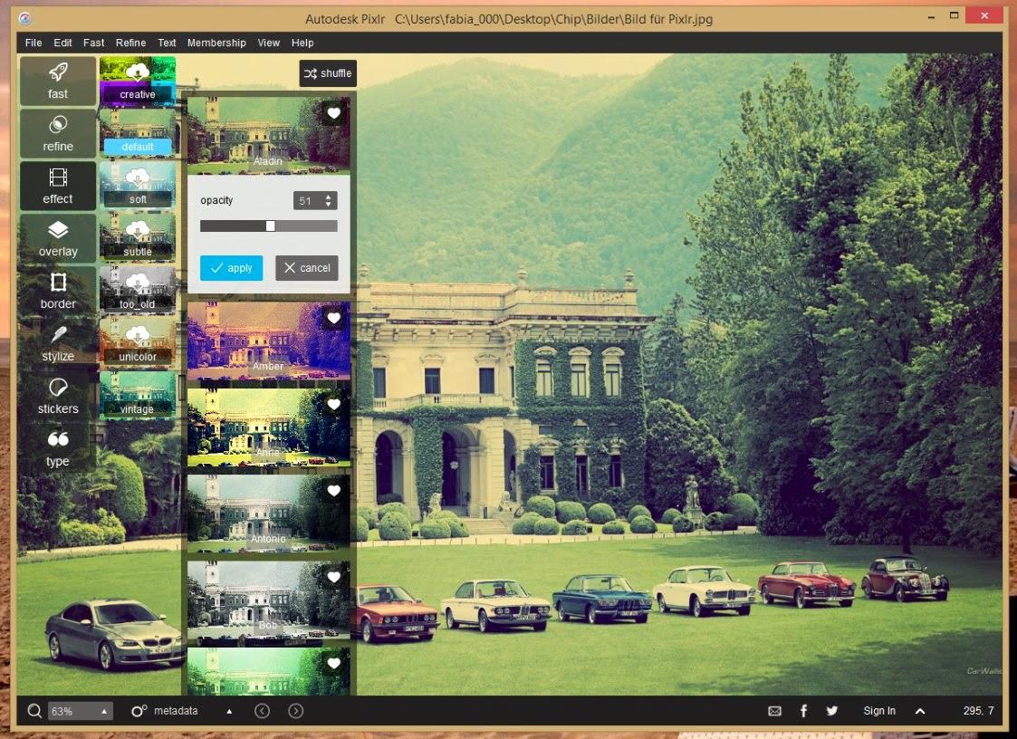 Autodesk Pixlr-простой редактор фотографий