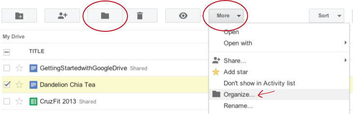 UCSC Google News: Organize Google Drive Files under Multiple