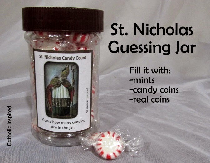 Saint Themed Guessing Jars Free Printable Labels And More Catholic Inspired