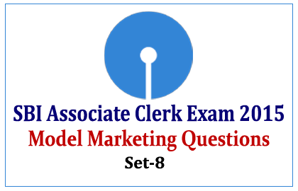 Marketing Questions for SBI Associate Clerk Exam 2015