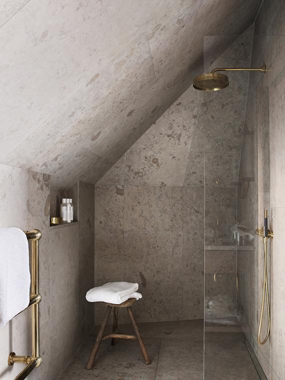 Wooden bathroom stool | Image by Magnus Marding via Ett Hem