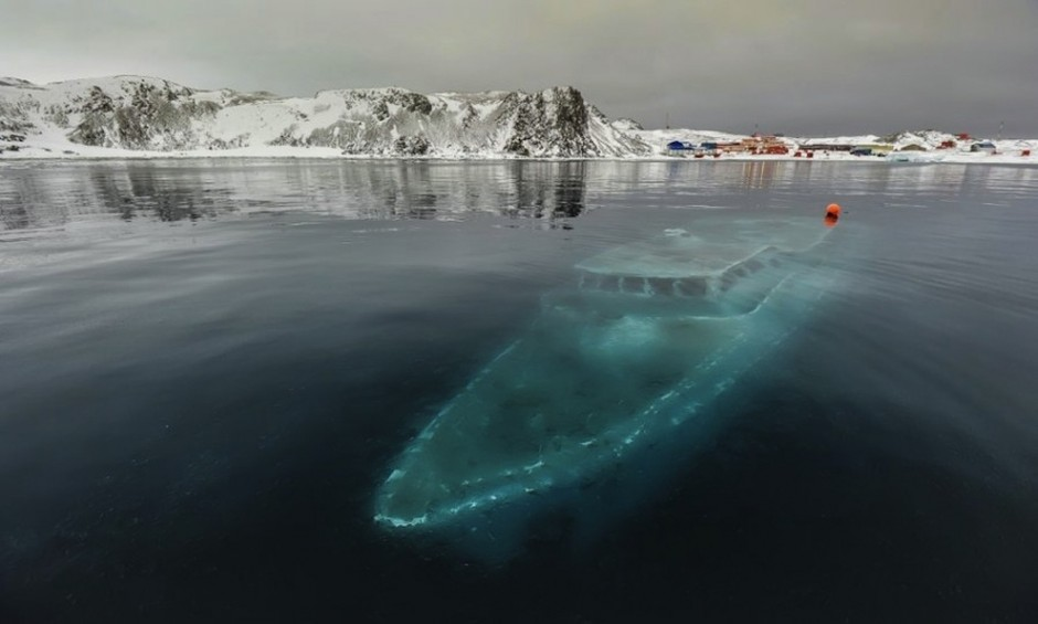 Sunken yacht, Antarctica - 30 Abandoned Places that Look Truly Beautiful