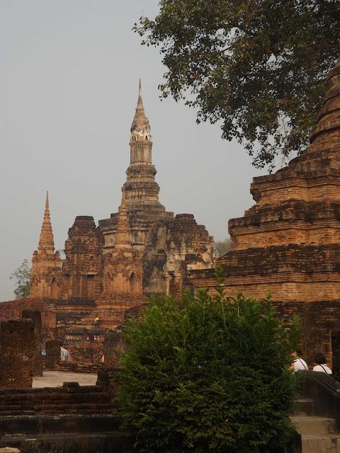 Thaïlande, Sukhothaï, temple, bouddha