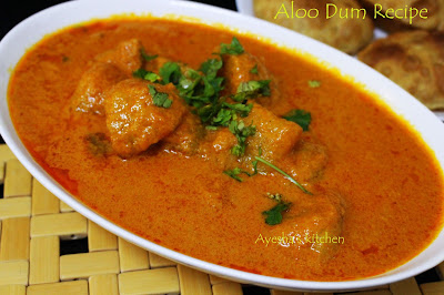 dum aloo alu dum potato curry spicy curry side dish for shapati paratha puri baji