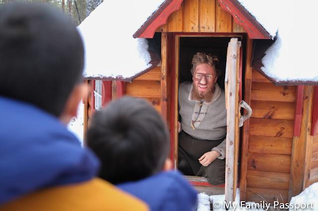 Ver a Papa Noel Laponia familia