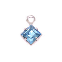 Swarovski Xilion Square Fancy Crystal (Aquamarine - MARCH)