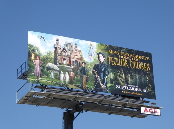 Miss Peregrines Home for Peculiar Children movie billboard