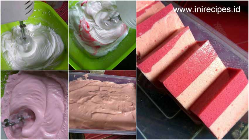 Resep Puding Busa Strawberry